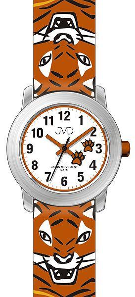Chlapecké dětské hodinky JVD J7157.1 s tygrem pro kluky a holky