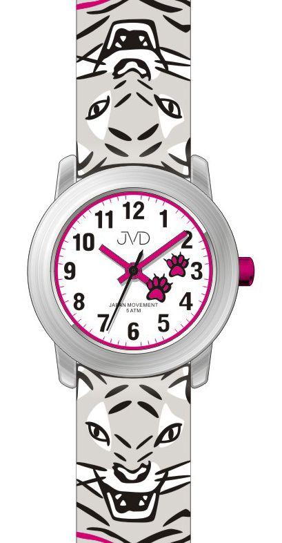 Chlapecké dětské hodinky JVD J7157.2 s tygrem pro kluky a holky