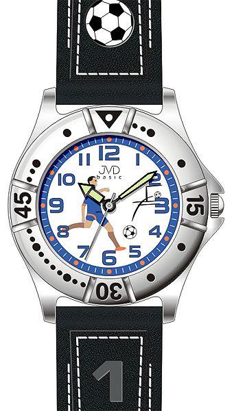 Chlapecké sportovní fotbalové hodinky JVD J7072.1 pro fotbalistky 5ATM