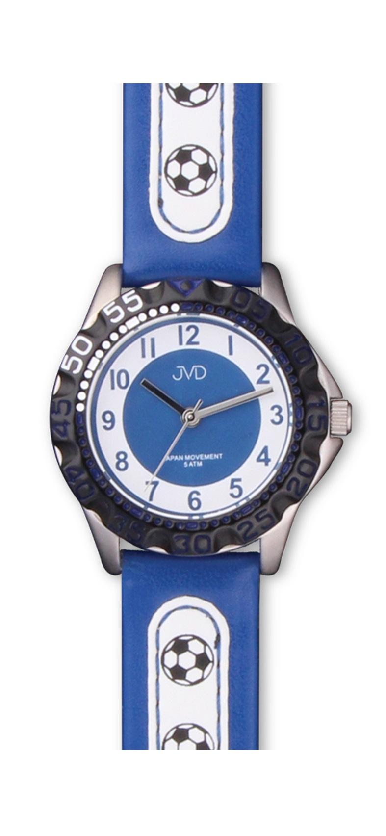 Fotbalové chlapecké sportovní hodinky JVD J7078.1 pro fotbalisty - 5ATM (pro malé fotbalisty - modré)