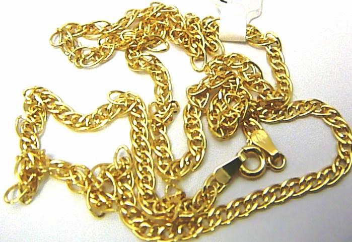 Mohutný pevný silný pánský zlatý řetěz (pánský řetízek) 50cm 585/3,42gr H483