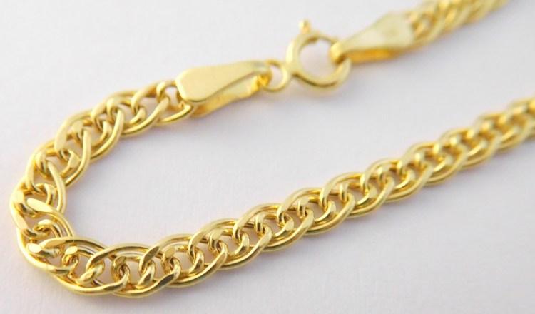 Mohutný pevný silný dámský zlatý řetěz (pánský řetízek) 45cm 585/2,97gr H484