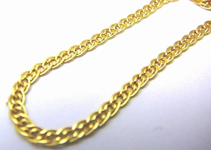Mohutný pevný silný dámský zlatý řetěz (pánský řetízek) 45cm 585/3,06gr H484