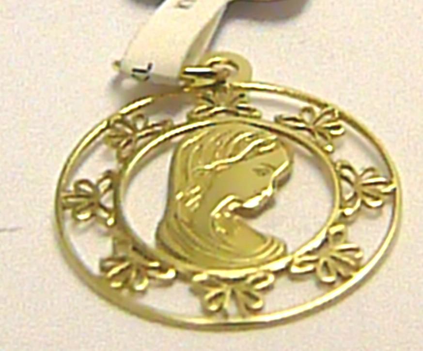 Zlatý přívěsek - panna Maria - madonka s gravírováním 585/0,50gr P452 (4420205)
