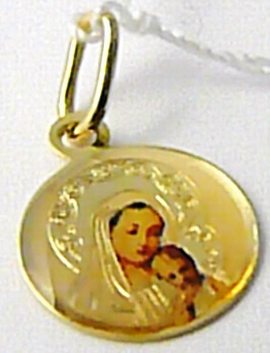 Zlatá madonka - zlatá madona přívěsek 585/0,54gr H504