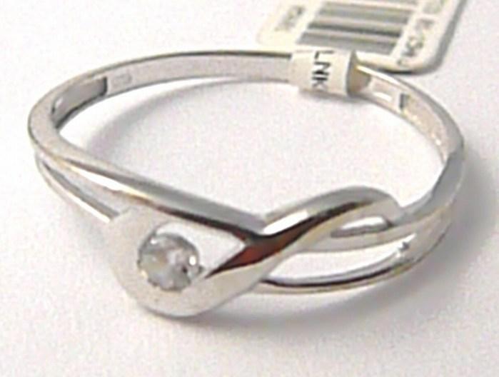 Dámský zlatý prsten se zirkonem vel.56 585/0,95 gr P463