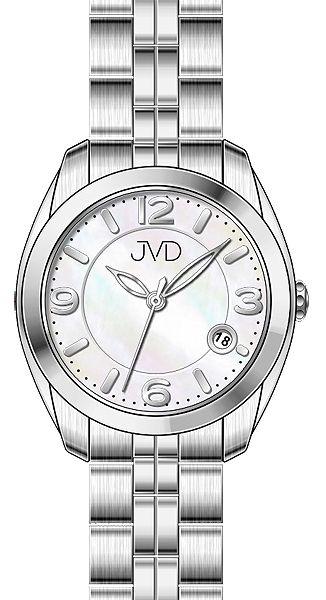 Voděodolné pánské ocelové hodinky JVD W76.1 s kalendářem - 5ATM