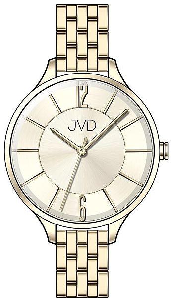 Voděodolné dámské ocelové hodinky JVD W77.2 s velkým číselníkem
