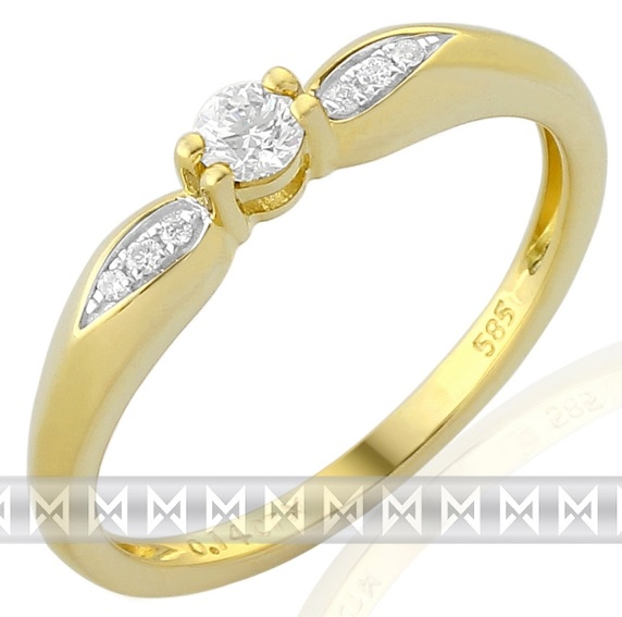 Luxusní zásnubní diamantový prsten posetý brilianty 3811267