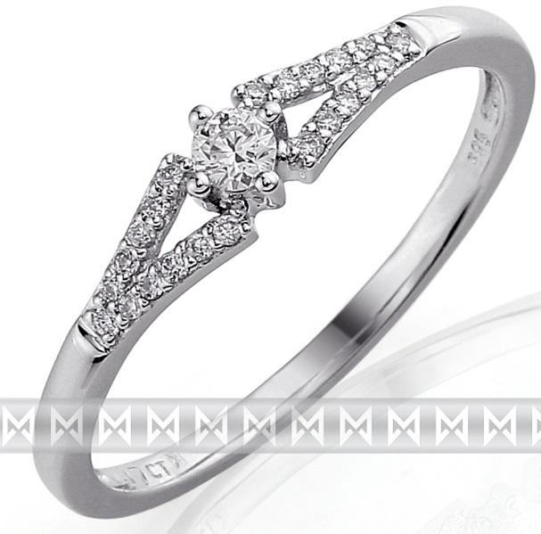 Luxusní zásnubní zlatý diamantový prsten posetý pravými brilianty (bílé) 3861303 (3861303-0-59-99)