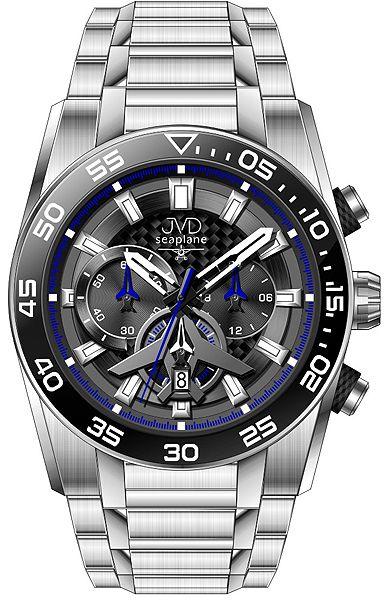 Luxusní vodotěsné sportovní hodinky JVD seaplane W49.2 chornograf se stopkami