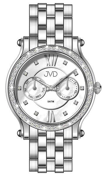 Dámské luxusní hodinky JVD W80.1 - chronografy s perleťovým číselníkem (5)