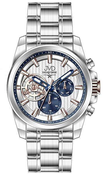 Pánské luxusní vodotěsné chronografy hodinky JVD seaplane W83.2 - 10ATM stopky