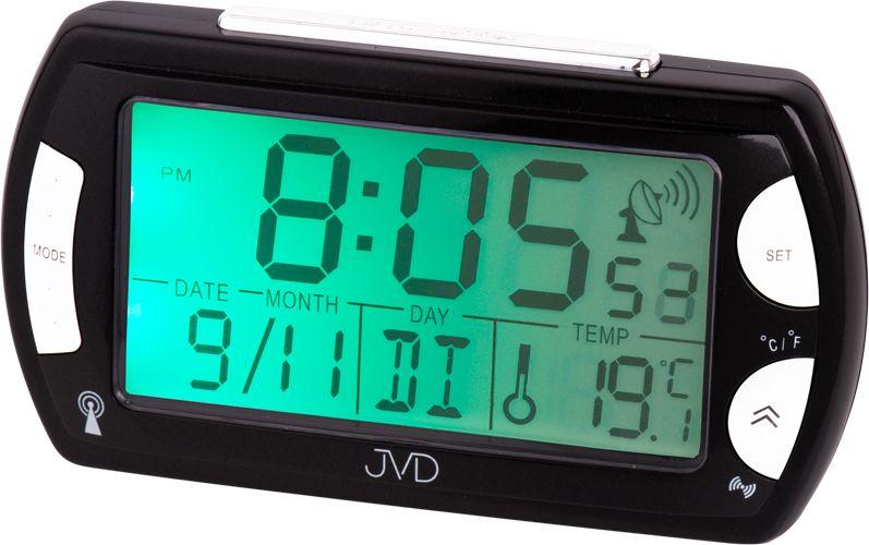 Černý rádiem řízený luxusní digitální budík JVD RB358.10