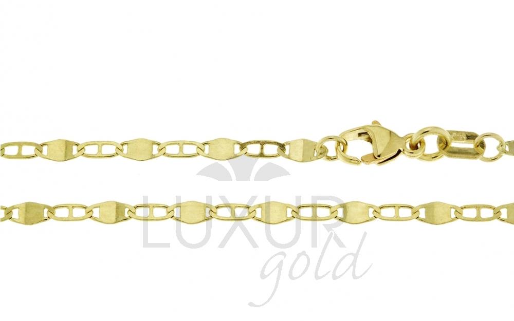 Pánský mohutný plný zlatý řetízek (řetěz) 50cm 585/2,52gr P520