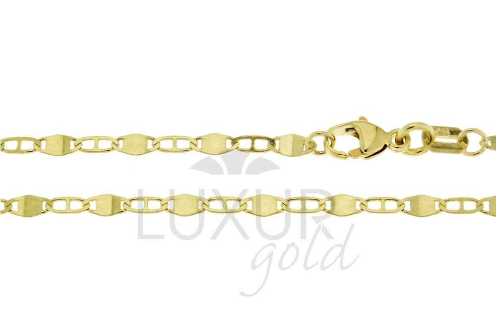 Pánský/dámský mohutný plný zlatý řetízek (řetěz) 45cm 585/2,30gr P521