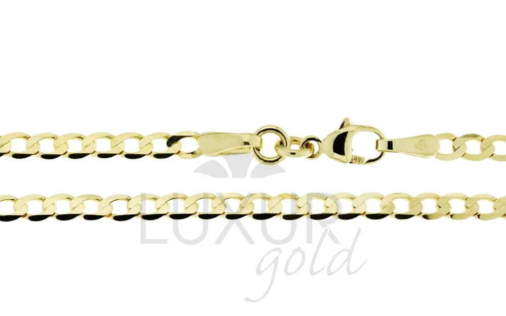 Pánský mohutný plný zlatý řetěz PANCER 50cm 585/4,87gr P522