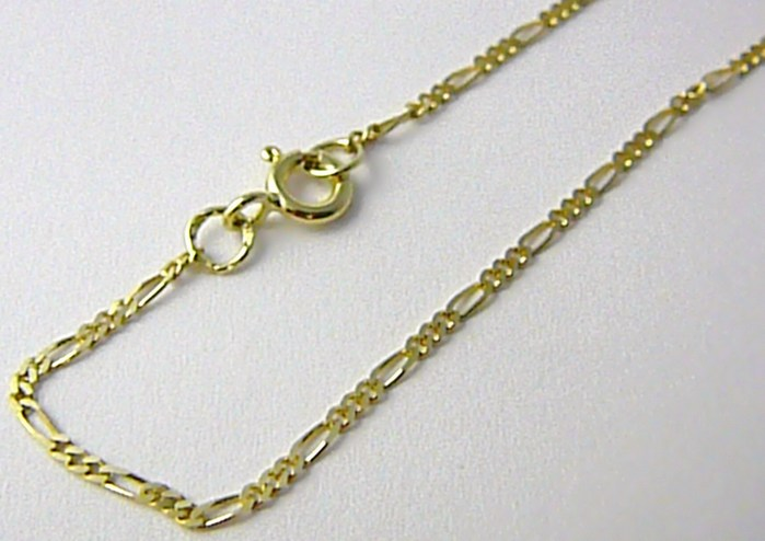 Pánský plný zlatý řetízek (řetěz) FIGARO 50cm 585/2,37gr P523