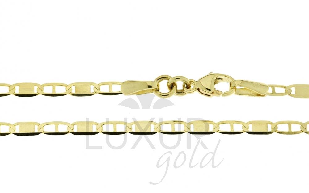 Mohutný plný zlatý řetízek (řetěz) šířka 2,2mm 45cm 585/3,15gr P525 (2840075)