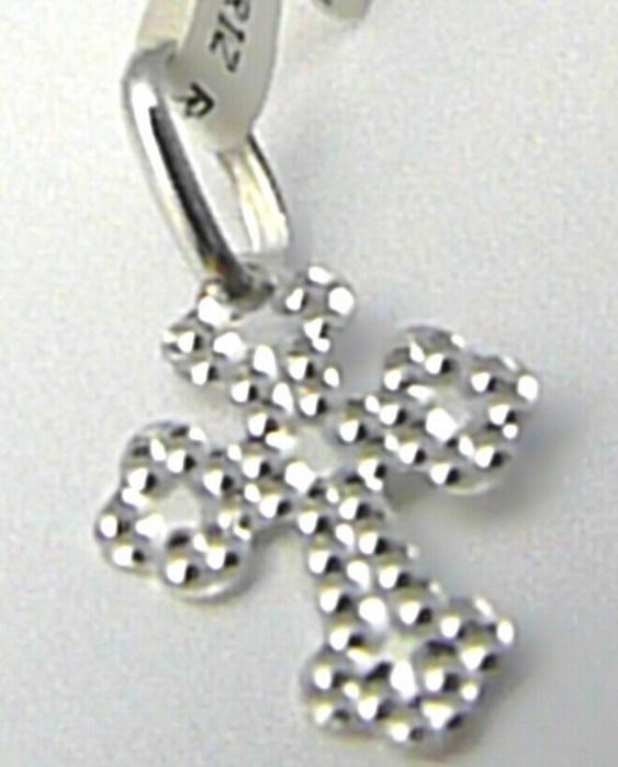 Zlatý křížek z bílého zlata s gravírováním 585/0,35gr 1372250