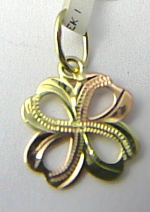 Zlatý křížek z dvojího zlata a s gravírováním 585/0,47gr 3220149