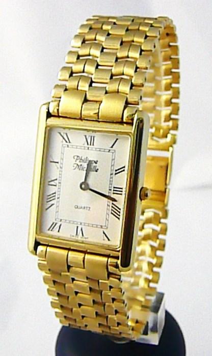 Luxusní společenské pánské švýcarské zlaté hodinky Philippe Michelle 585/62,79gr