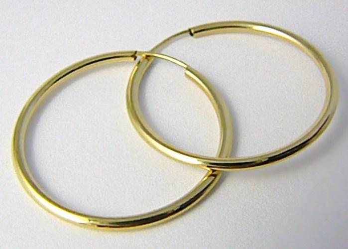 Dámské velké zlaté kruhy 26mm/2,6cm 585/0,83gr H574