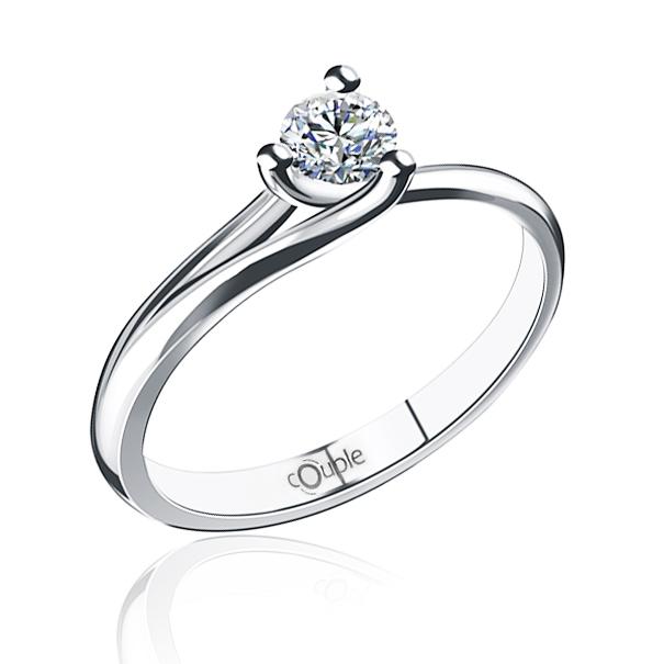 Luxusní prsten s diamantem, bílé zlato briliant, červený přírodní rubín 386199