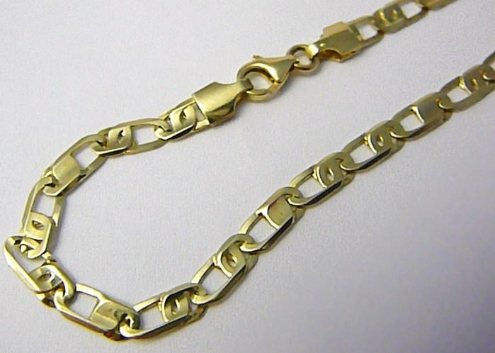 01bbe4eb6 Mohutný velký pánský zlatý náramek šíře 4,5mm 21cm 585/4,90gr T188 ...