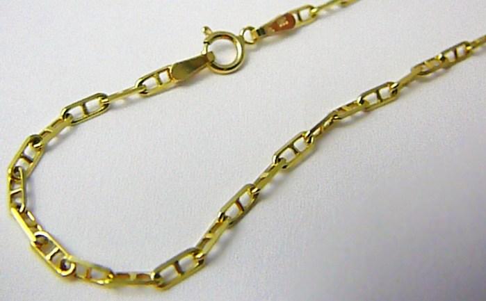 Dámský / pánský zlatý prodloužený řetízek (řetěz) 55cm 585/5,10gr T190