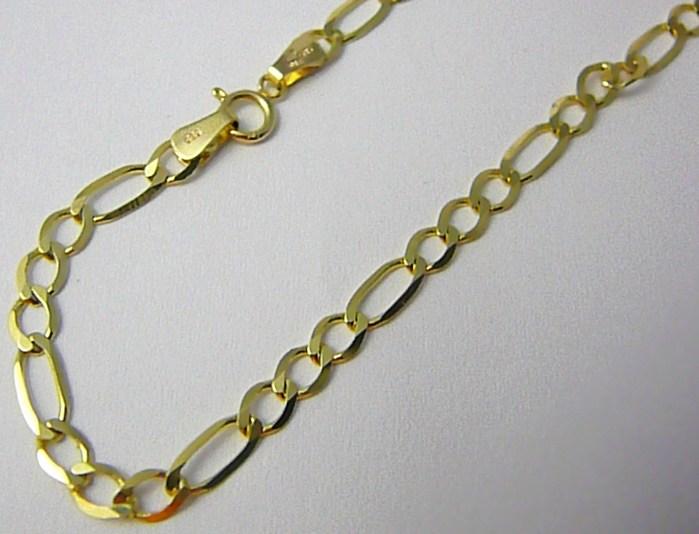 Dámský / pánský zlatý prodloužený řetěz - řetízek 55cm 585/6,55gr T191