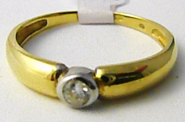 Mohutný zásnubní prsten v kombinaci zlata se zirkonem vel. 59 585/2,15 gr T194