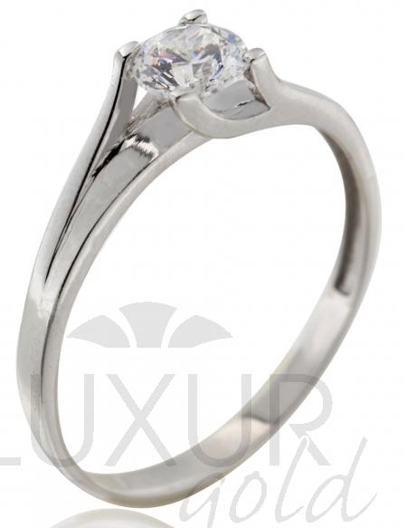 Dámský zásnubní zlatý prsten s velkým zirkonem 585/1,40 gr vel. 57 P553 (1161250)