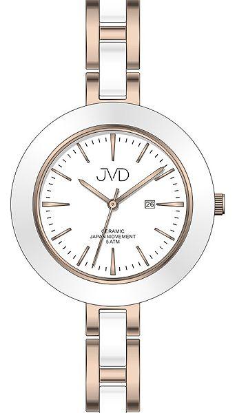 Dámské keramické čitelné módní hodinky JVD J4134.3 - 5ATM