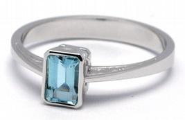 Luxusní diamantový zásnubní prsten s přírodním akvamarínem 585/2,0 gr J-21656-12
