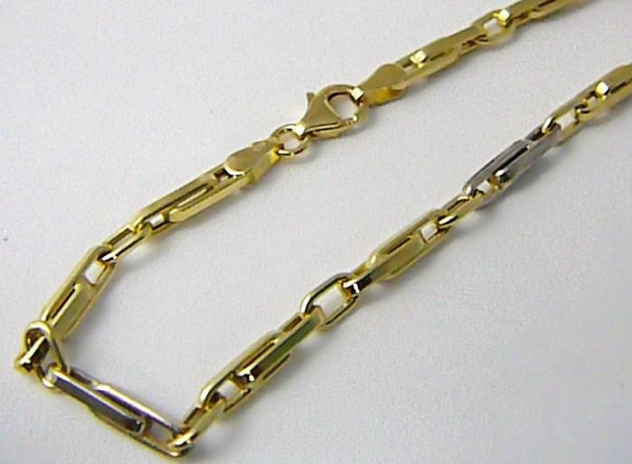 Mohutný pevný zlatý pánský řetízek /řetěz v kombinaci zlata 50cm 585/7,45gr H627