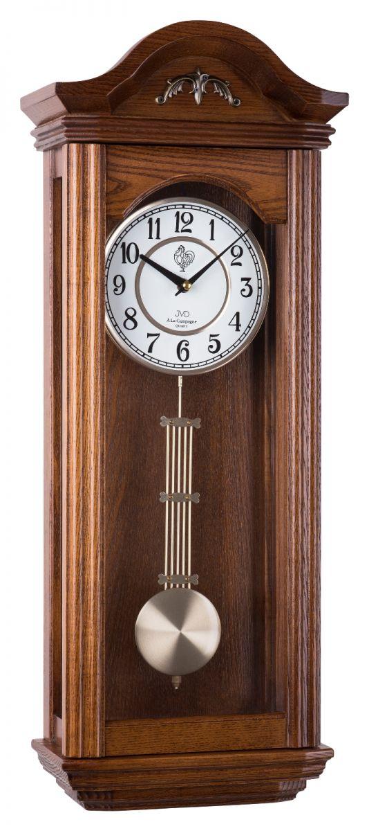 Kyvadlové skříňové dřevěné hodiny pendlovky JVD N9360.2 s melodií (POŠTOVNÉ ZDARMA!!)