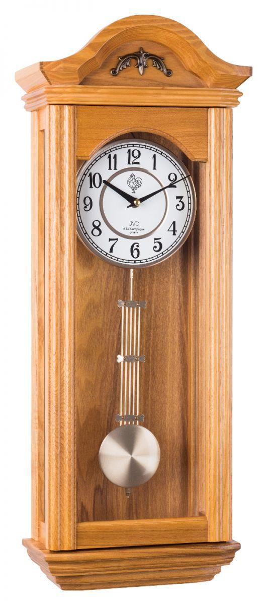 Kyvadlové skříňové dřevěné hodiny pendlovky JVD N9360.1 s melodií (POŠTOVNÉ ZDARMA!!)