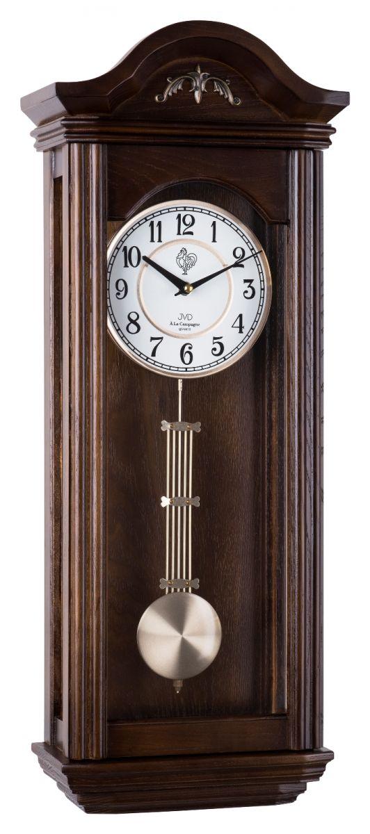 Kyvadlové skříňové dřevěné hodiny pendlovky JVD N9360.3 s melodií (POŠTOVNÉ ZDARMA!!)
