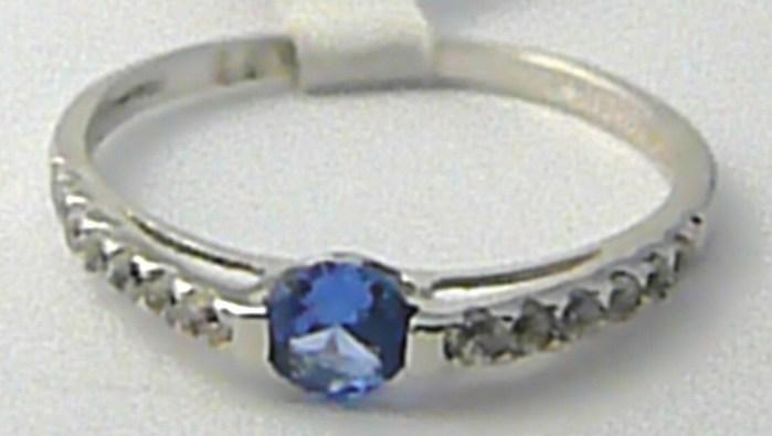 Zásnubní zlatý prstýnek s velkým modrým akvamarínem vel. 55 585/1,32 gr P578