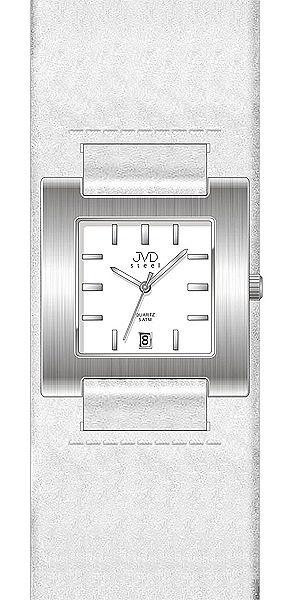 Dámské bílé hranaté moderní hodinky JVD steel J4016.5