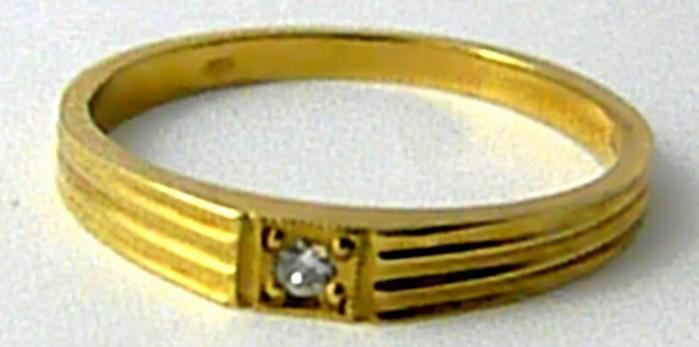 Diamantový gravír. zásnubní prsten se diamantem 585/1,82g vel. 53 SKLADEM! D010 (17789)