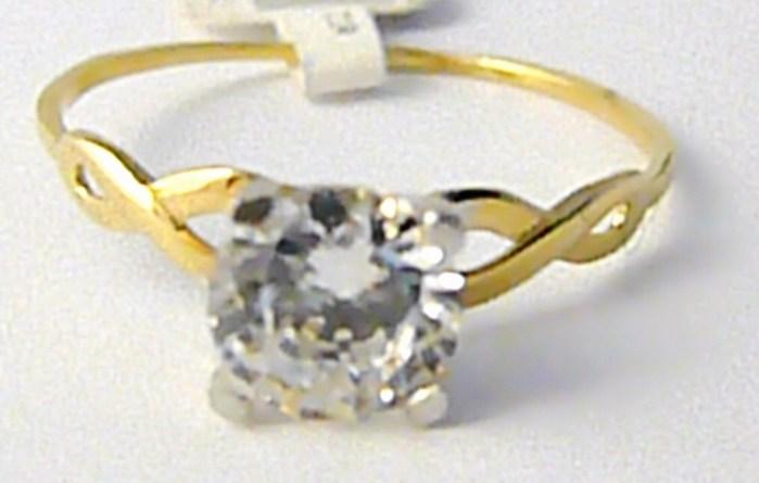 Zásnubní zlatý prsten s velkým zirkonem 585/1,27 gr vel. 59 P627 (2110128)