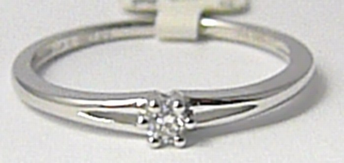 Zásnubní diamantový prsten 0,06ct 1ks diamant vel.52 P632 SKLADEM!!!