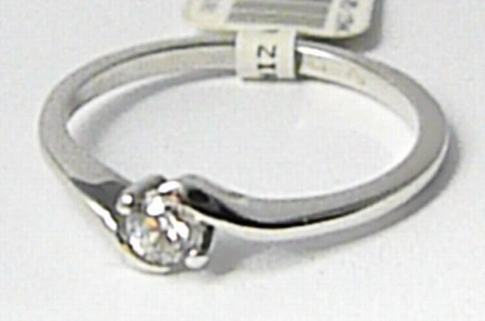 Zásnubní zlatý prsten z bílého zlata se zirkonem 585/1,60 gr vel. 51 P637 (6864055)