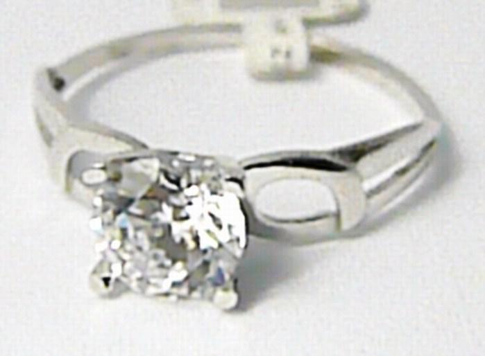 Zásnubní zlatý prsten z bílého zlata se zirkonem 585/1,27 gr vel. 52 P638 (2160129)