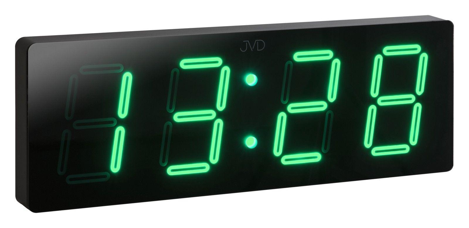 Velké svítící digitální moderní hodiny JVD DH1.3 se zelenými číslicemi (POŠTOVNÉ ZDARMA!!!)