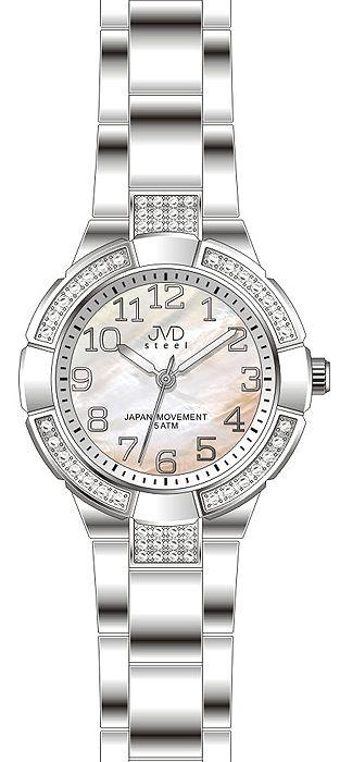 Dámské voděodolné ocelové zlaté hodinky JVD J4083.1 - 5ATM