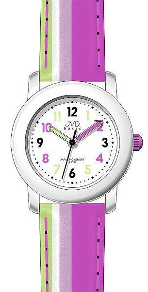 Růžové dětské dívčí hodinky JVD basic J7116.2 - 5ATM ba1e2b13f76