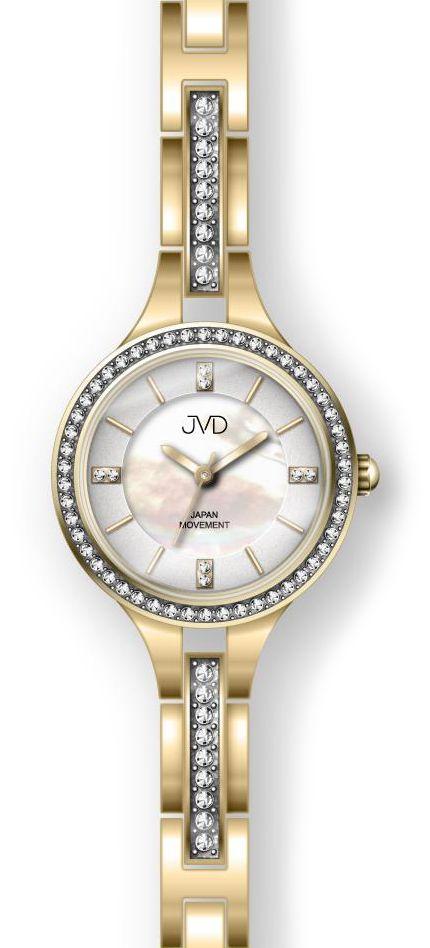 Šperkové zlaté dámské ocelové hodinky JC045.2 s elegantními kamínky